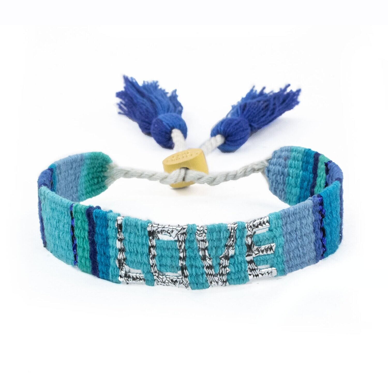 Love is Project Atitlan Love Bracelet - Blue/Turquoise/Indigo