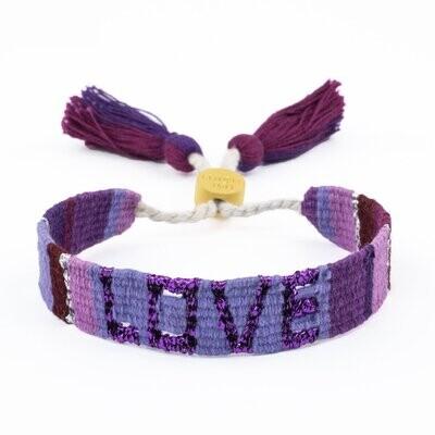 Love is Project Atitlan Love Bracelet - Purple/Violet