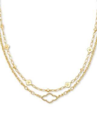 Kendra Scott Abbie Multi Strand Necklace in Gold