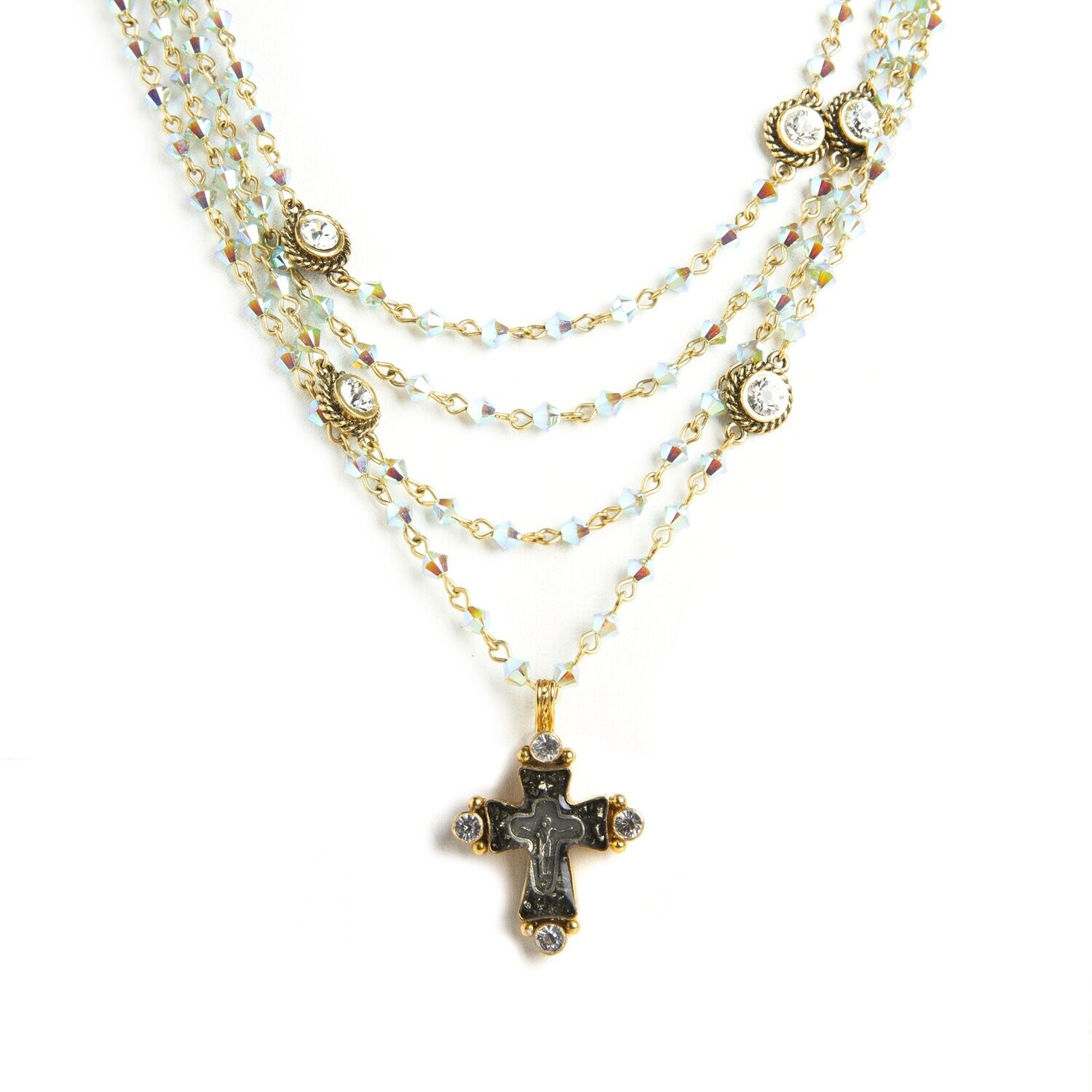 VSA Magdalena Necklace in Pacific Opal AB (Gold)