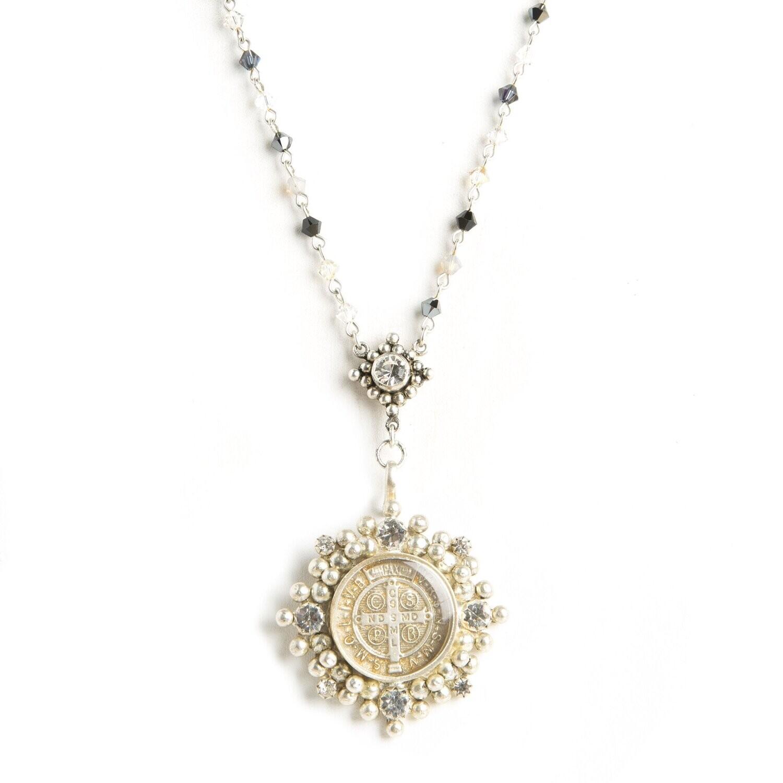 VSA Evita Necklace in White Dust (Silver)