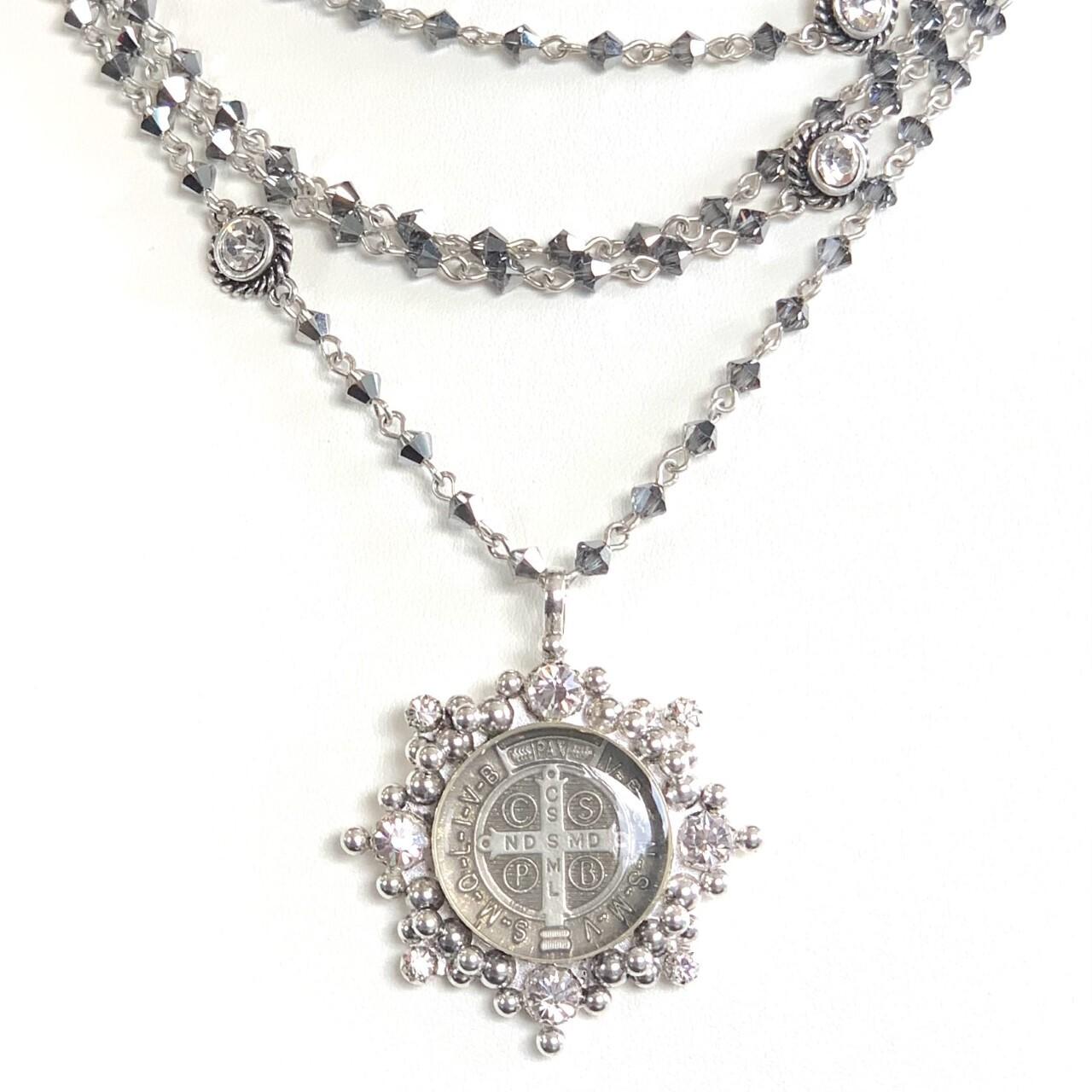 VSA Magdalena Necklace in Chrome (Silver)