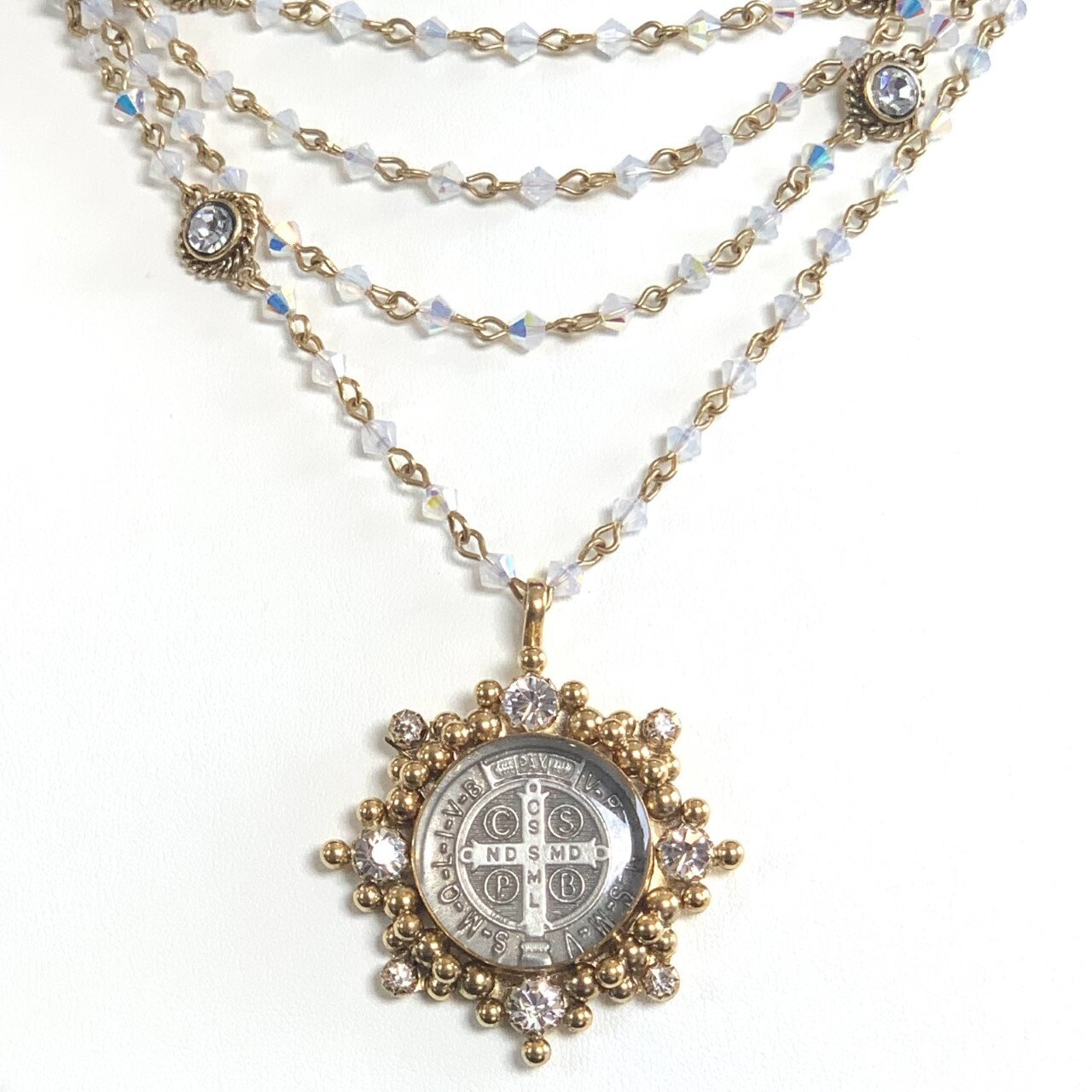 VSA Magdalena Necklace in Virgin White Ombre (Gold)
