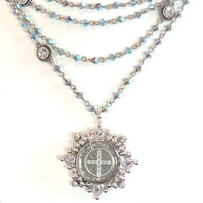 VSA Magdalena Necklace in Pacific Opal AB (Silver)