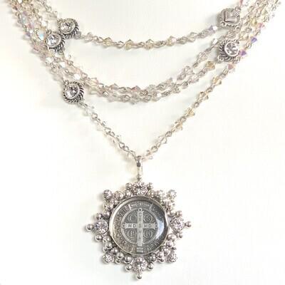 VSA Magdalena Necklace in Cream Ombre (Silver)