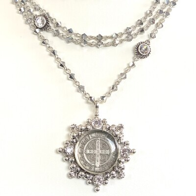 VSA Magdalena Necklace in Light Chrome (Silver)