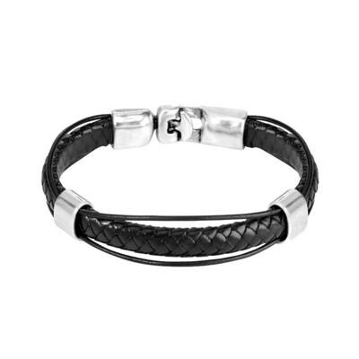 Uno de 50 Men's Crossing Bracelet (Black)