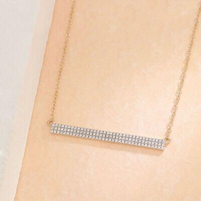 Ella Stein Tell Me Straight Necklace (Gold)