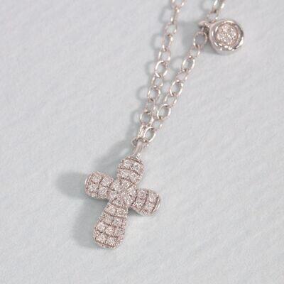 Ella Stein Cross Necklace (Silver)