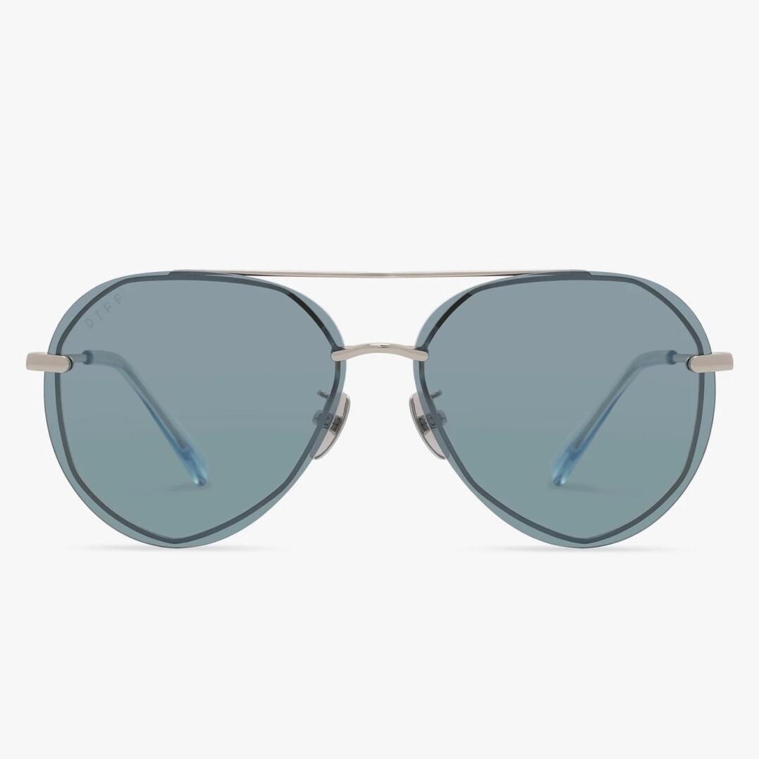 DIFF Lenox - Silver/Aqua Sea Mirror