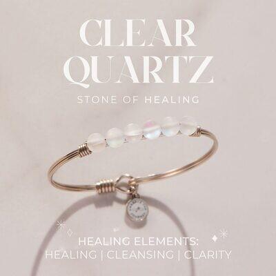 Luca + Danni Clear Quartz Energy Stone Bracelet for Healing