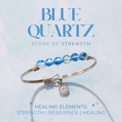 Luca + Danni Blue Quartz Energy Stone Bracelet for Strength
