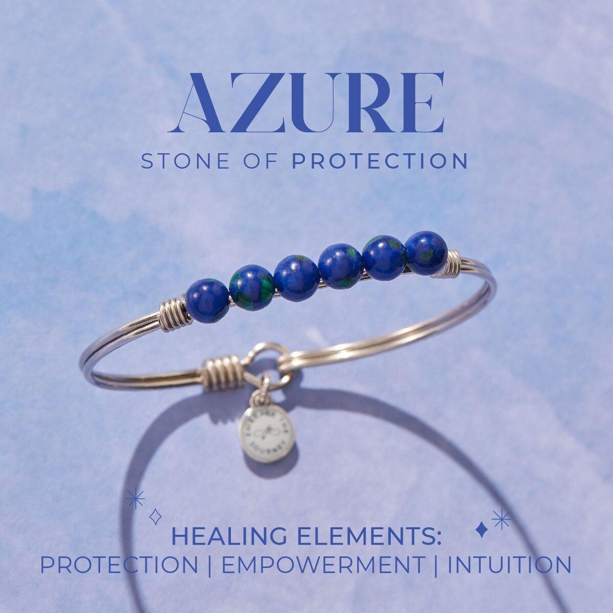 Luca + Danni Azure Energy Stone Bracelet for Protection