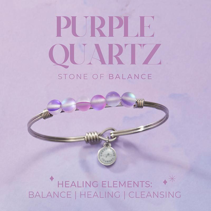 Luca + Danni Purple Quartz Energy Stone Bracelet for Balance