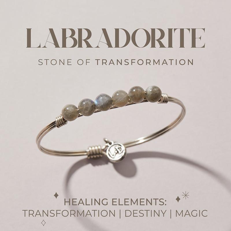 Luca + Danni Labradorite Energy Stone Bracelet for Transformation