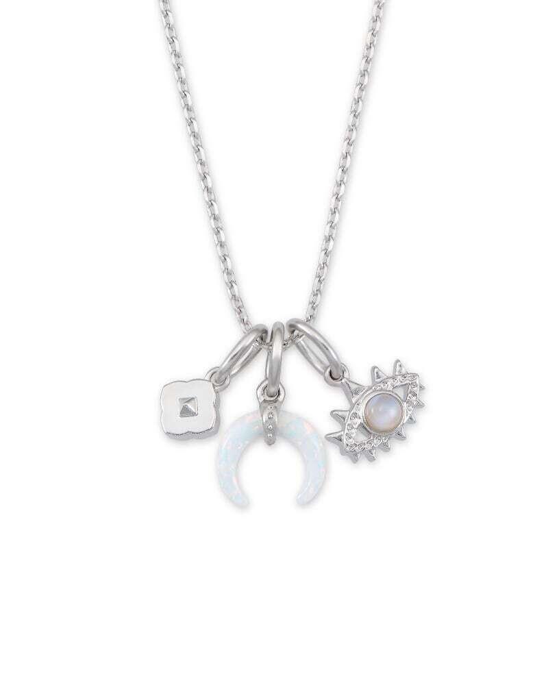 Kendra Scott Gemma Silver Charm Necklace Set in Neutral Mix