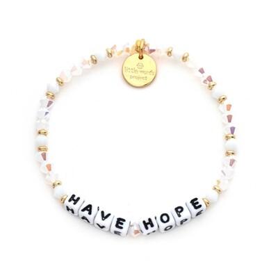 Little Words Project White HAVE HOPE Bracelet