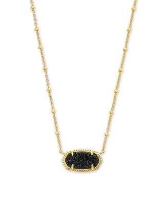 Kendra Scott Elisa Gold Satellite Pendant Necklace in Black Drusy