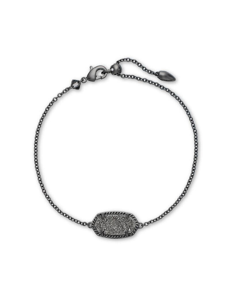 Kendra Scott Elaina Gunmetal Single Slide Bracelet in Platinum Drusy