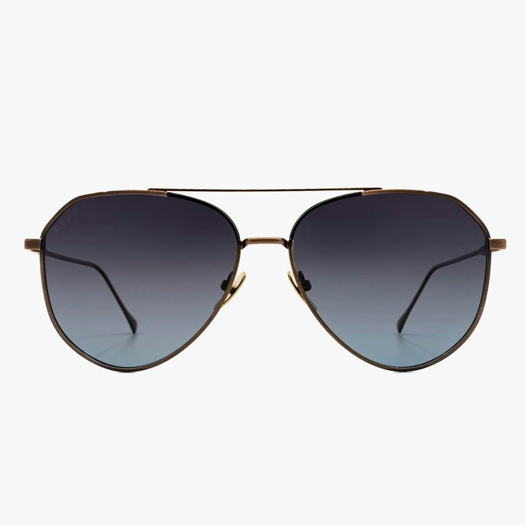 DIFF Dash - Brushed Brown/Gray Blue Polarized