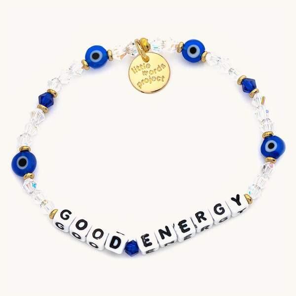 Little Words Project White GOOD ENERGY Bracelet