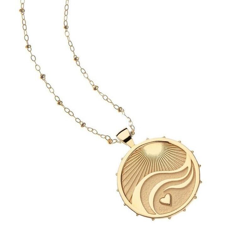 Jane Win Original LOVE-COURAGE-STRENGTH Coin Pendant