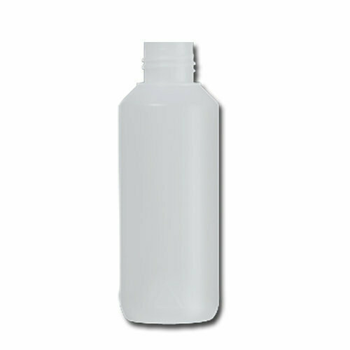 HDPE Industrial natural round bottle 100ml 22/410 including cap
