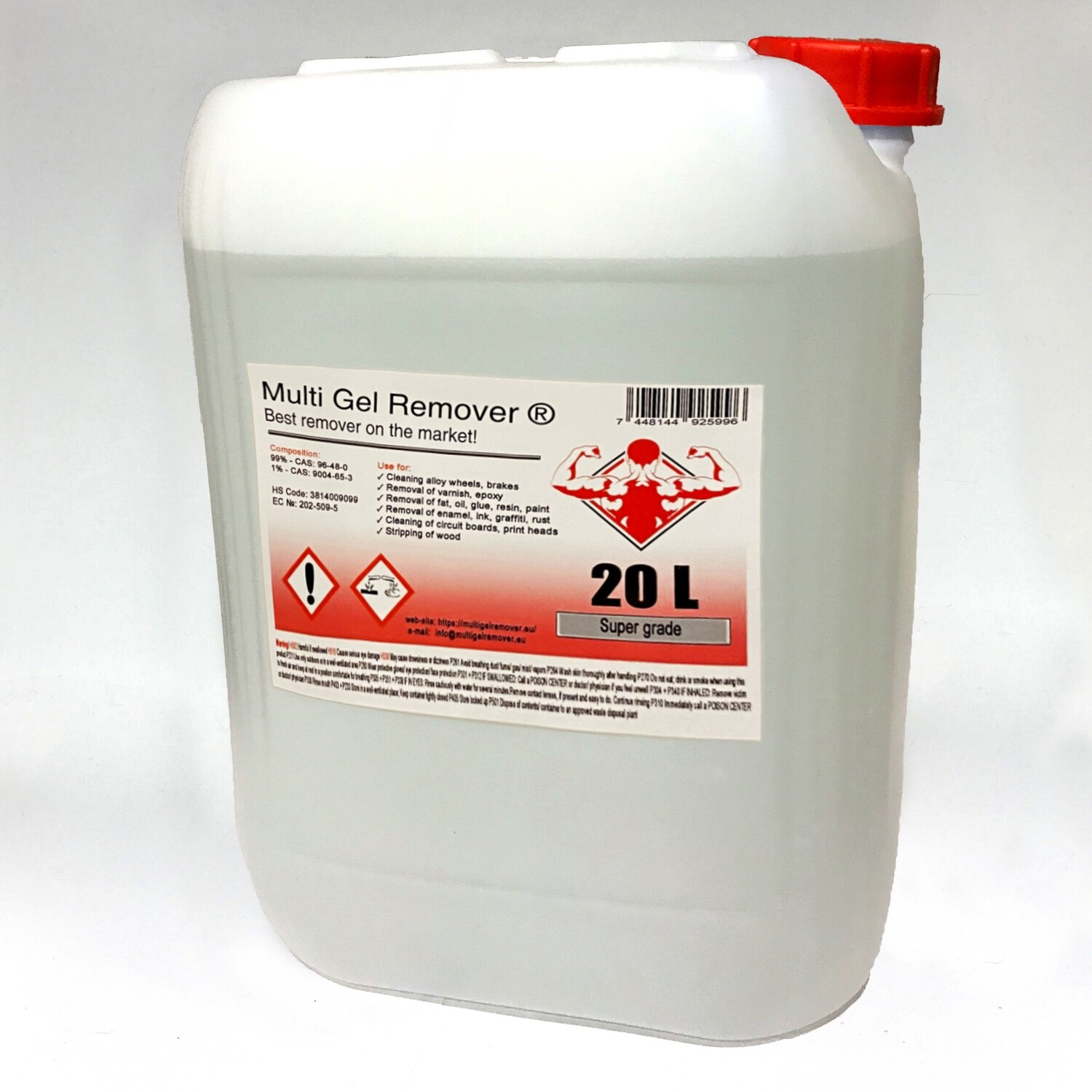 Multi Gel Remover® 20.000 ml Canister +1x 250ml Multi Gel Remover® for FREE