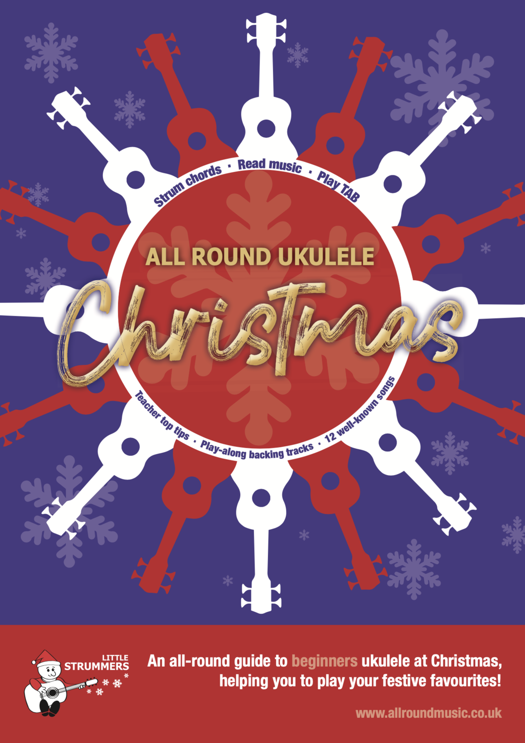 All Round Christmas - Ukulele Book for Beginners - Download Edition