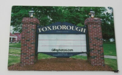 ​Foxboro Gallery-Special Order Christmas Sale-Photo Image of Iconic Foxboro Lions Club Sign-Blank Photo image-Personalize with Size-Name and Message
