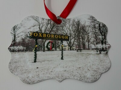 Back in Stock. Foxboro ​Special Christmas Sale-Iconic Foxboro Sign and Common Snow Scene-​ 3