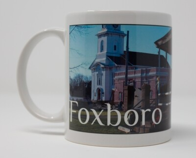 ​Special order on this popular item--Please email us. Foxboro Special Christmas Sale-11 OZ. Photo Mug-Side view of Foxboro Nativity/Orpheum