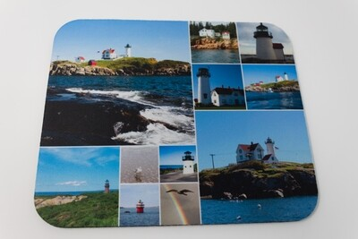 Special Christmas Sale- Photo Collage on Mousepad-Light Houses Around New England