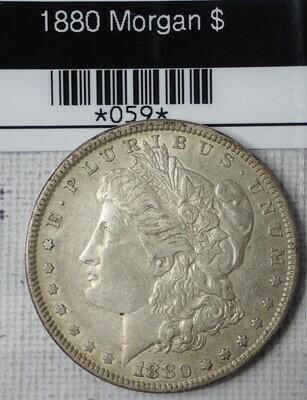 1880 MORGAN SILVER DOLLARS