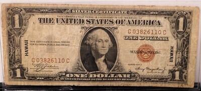 1935 A $1, SILVER CERTIFICATE ( HAWAII) C038