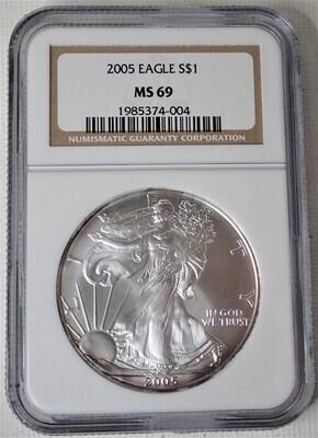 2005 EAGLE S$1 NGC MS69