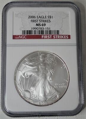 2006 SILVER $ AMERICAN EAGLE NGC