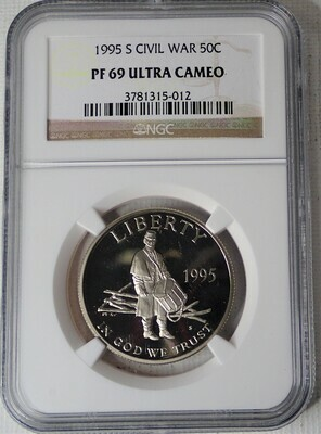 1995 S 50C CIVIL WAR NGC PF 69 ULTRA CAMEO