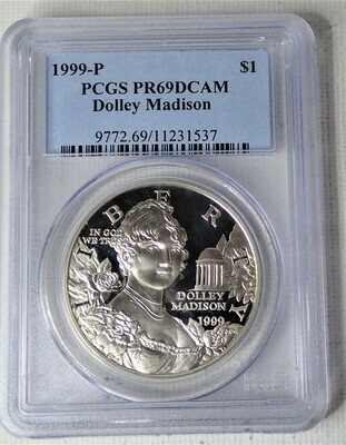 1999 P S$1 DOLLEY MADISON PCGS PR69 DCAM
