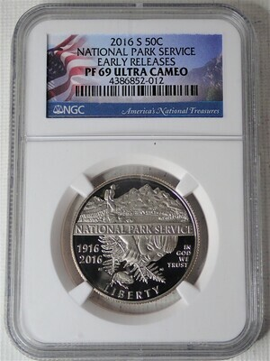 2016 S 50C U.S. NATIONAL PARK (EARLY RELEASES) NGC PF 69 ULTRA CAMEO