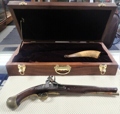 1800' S BRITISH NAVAL FLINTLOCK PISTOL