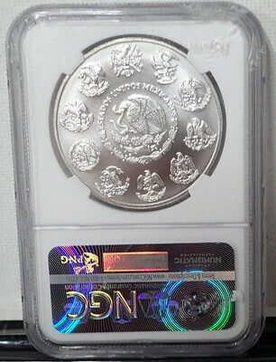 2017MO MEXIC0 1 ONZA SILVER {EARLY RELEASE} NGC MS69