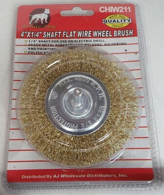 WIRE WHEEL BRUSH 4 INCH BY QUARTER INCH