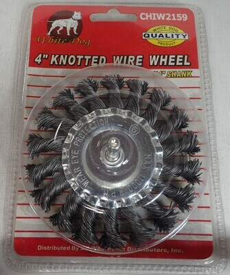KNOTTED WIRE WHEEL 4 INCH BY QUARTER INCH