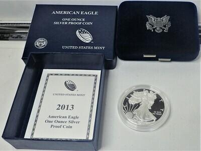 2013 AMERICAN EAGLE SILVER PROOF