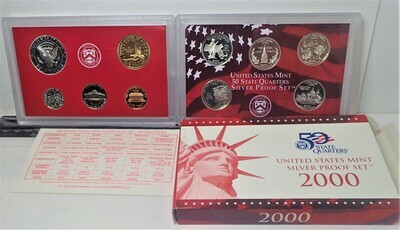 2000 SILVER PROOF SET