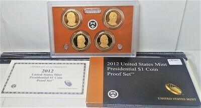 2012 U. S. MINT PRESIDENTIAL $1 PROOF SET