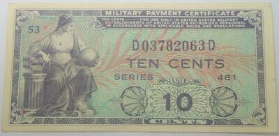 SERIES 481 $.10 MILITARY SCRIPT D03782063D