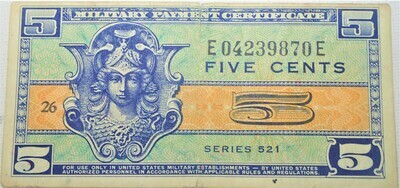 SERIES 521 $.05 MILITARY SCRIPT E04239870E