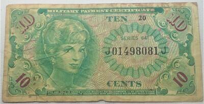 SERIES 641 $.10 MILITARY SCRIPT J01498081J